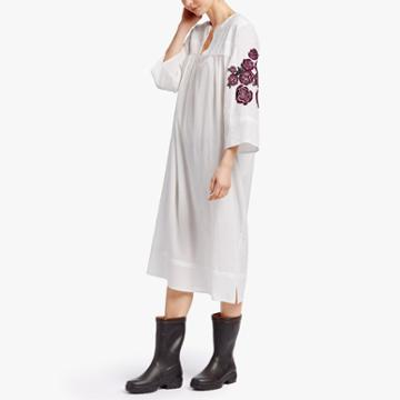 James Perse Grateful Dead Rose Embroidered Caftan
