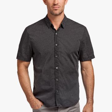 James Perse Leaf Print Cotton Shirt