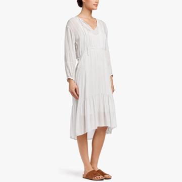 James Perse Diamond Print Peasant Dress