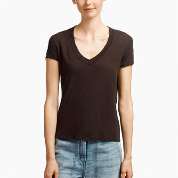 James Perse Recycled Slub Knit Seamed Tee