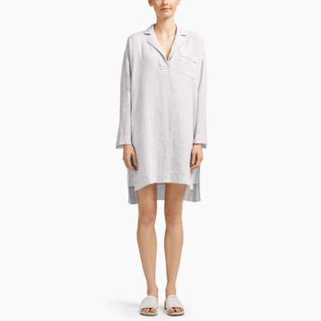 James Perse Linen Lounge Shirt Dress