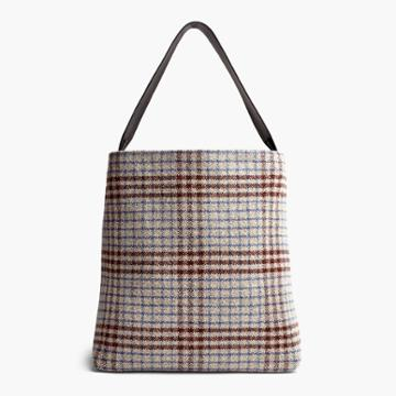 James Perse Ojai Medium Plaid Hobo