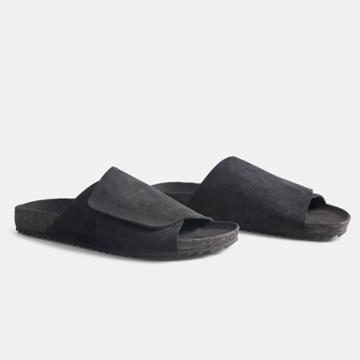 James Perse Men's Velcro Suede Slide