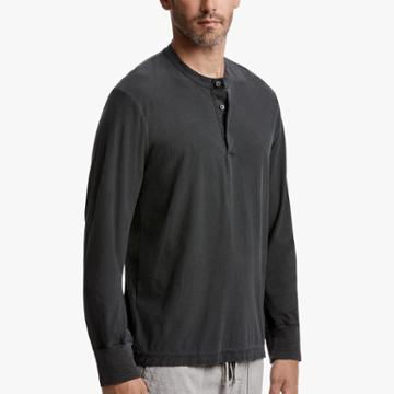 James Perse High Twist Jersey Henley