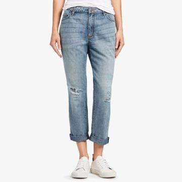 James Perse 5-pocket Distressed Denim Jeans