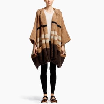 James Perse Mohair Hooded Poncho