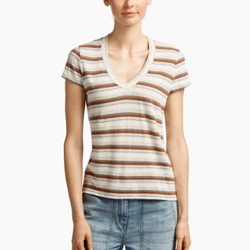 James Perse Revival Cotton Striped Tee