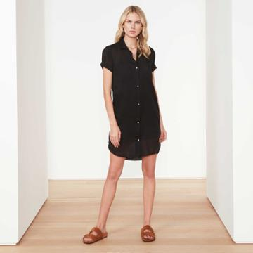 James Perse Cotton Voile Shirt Dress