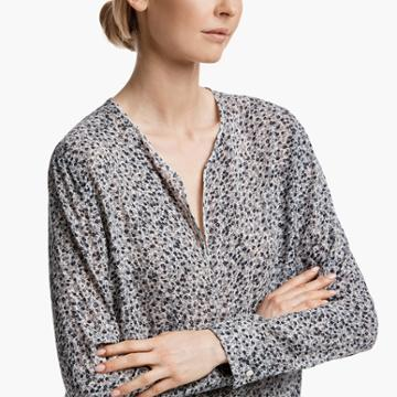 James Perse Floral Pop Over Shirt