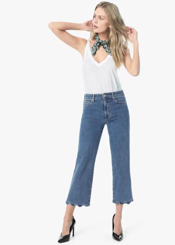 Kenzy Crop Fashion Flare Wavy Hem