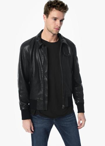 Md Leather Military Bomber