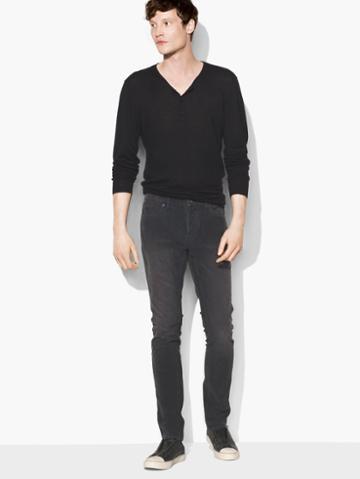 John Varvatos Wight Corduroy Jean Carbon Grey Size: 29