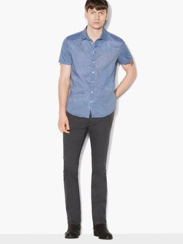 John Varvatos Fine Striped Short Sleeve Shirt