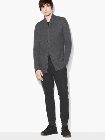 John Varvatos Shawl Collar Cardigan Grey Heather Size: S
