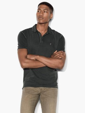 John Varvatos Vintage Washed Peace Polo