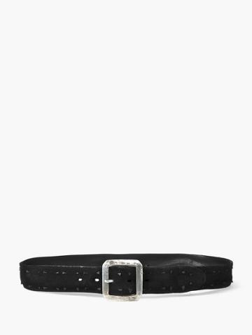 John Varvatos Suede Knot Belt  Size: 36