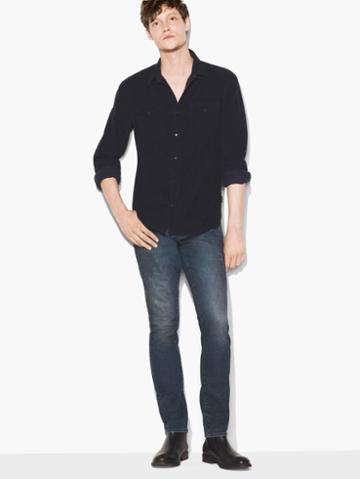 John Varvatos Corduroy Shirt Midnight Size: S