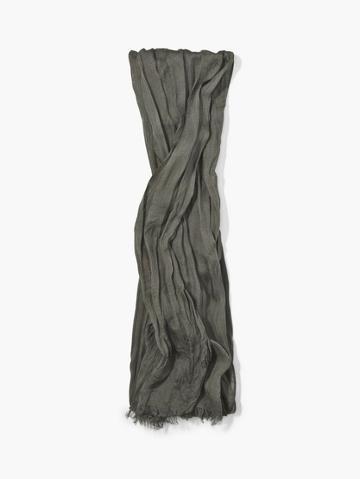John Varvatos Solid Color Skinny Crinkle Gauze Scarf