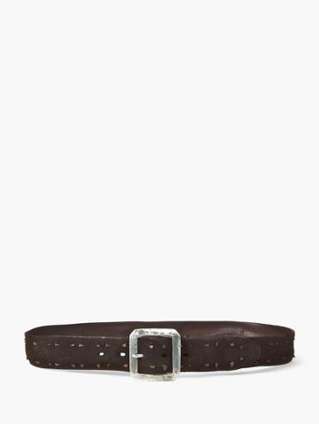 John Varvatos Suede Knot Belt  Size: 32