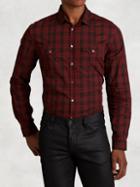 John Varvatos Cotton Plaid Shirt