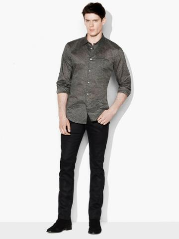 John Varvatos Dobby Speckled Sport Shirt