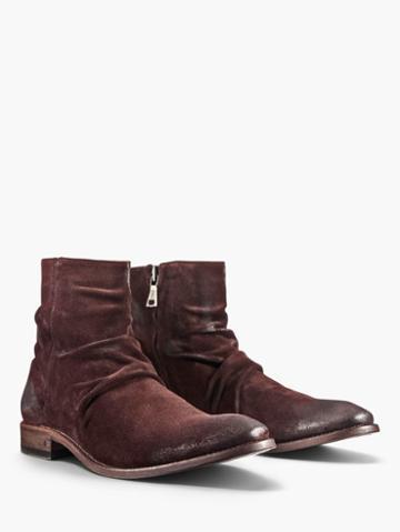 John Varvatos Morrison Sharpei Boot Burgundy Size: 7