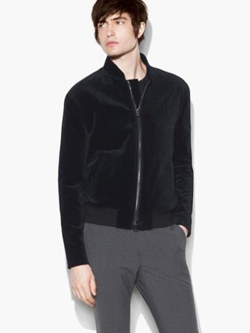 John Varvatos Velvet Bomber Jacket Harmony Size: 46
