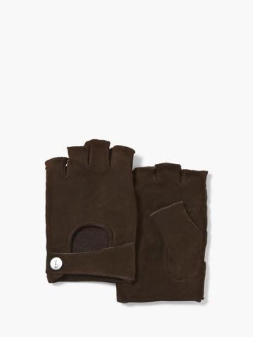 John Varvatos Fingerless Goat Suede Glove  Size: S