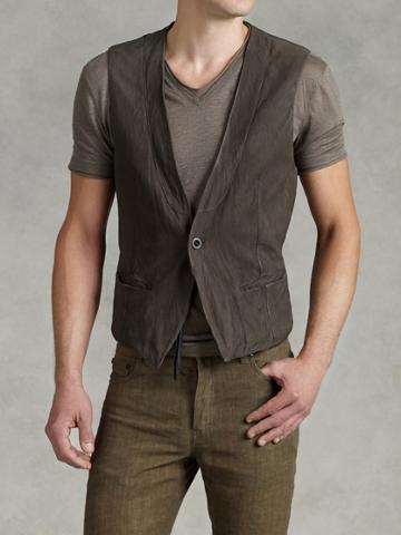 John Varvatos Cut Away Vest  Size: 52