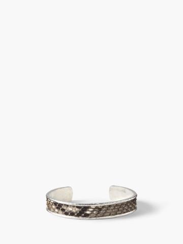 John Varvatos Exotic Snake Skin & Silver Cuff Light Angel