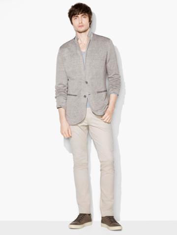 John Varvatos Crinkled Knit Jacket Brn/black Size: Xs