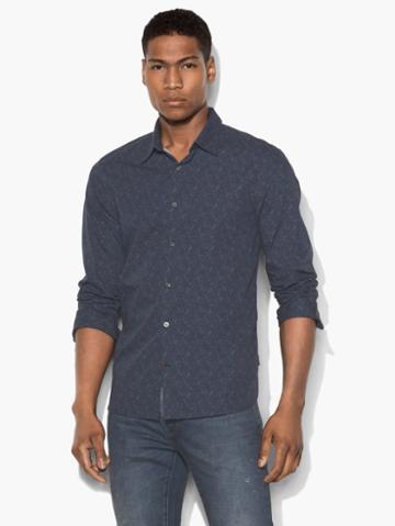 John Varvatos Vintage Floral Shirt Blue Size: Xs
