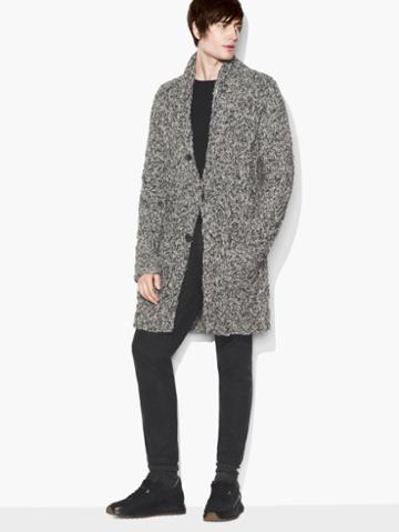 John Varvatos Cable Knit Cardigan Grey Heather Size: S