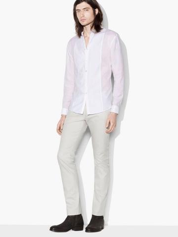 John Varvatos Banded Collar Shirt