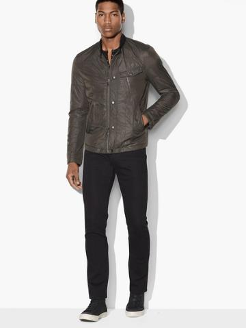 John Varvatos Quilted Military Flight Jacket