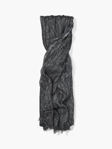 John Varvatos Crinkled Printed Scarf