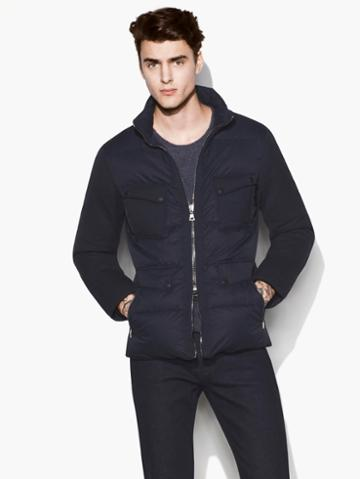 John Varvatos Downfill Jacket Dark Blue Size: 44