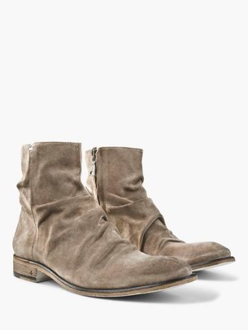 John Varvatos Suede Morrison Sharpei Boot  Size: 8