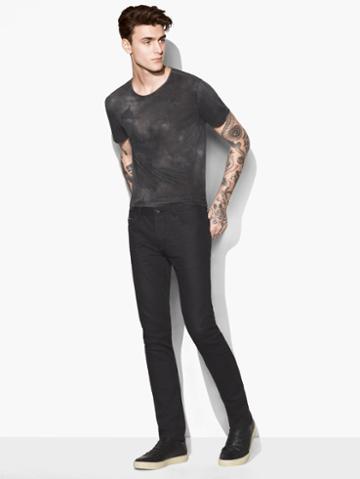 John Varvatos Chelsea Coated Jean Black Size: 30 Rg