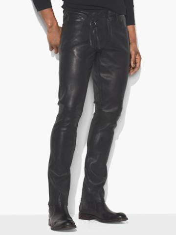 John Varvatos Leather Pant Black Size: 29