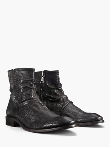 John Varvatos Morrison Sharpei Boot Black Size: 8
