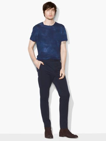 John Varvatos Tapered Pant Officer Blue Size: 46