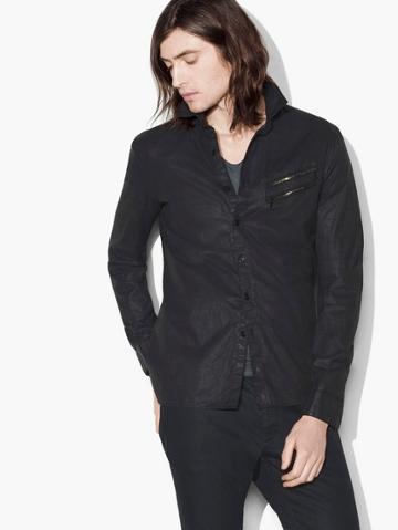 John Varvatos Resin Coated Shirt