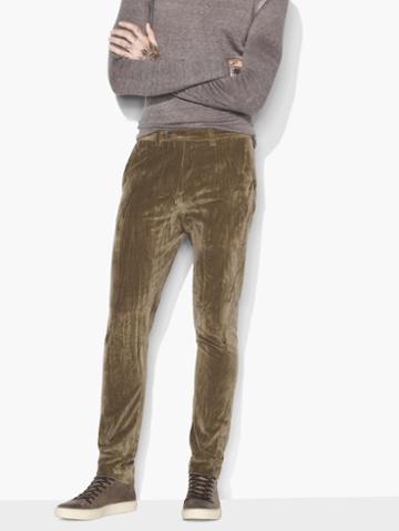 John Varvatos Velvet Pant Espresso Size: 46