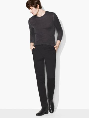 John Varvatos Tapered Pant Black Size: 46