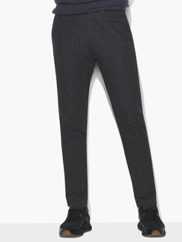 John Varvatos Pinstripe Pant Concrete Htr Size: 46