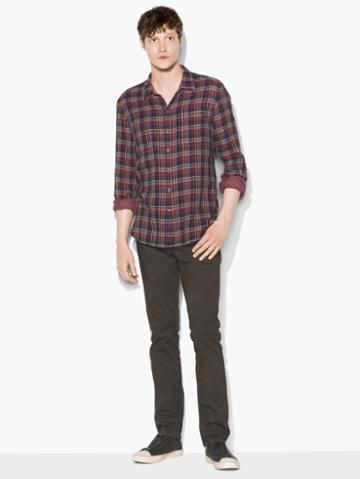 John Varvatos Reversible Shirt Rosewood Size: S