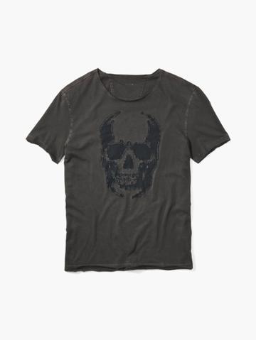 John Varvatos Skull Applique Tee Grey Size: S