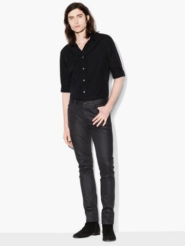 John Varvatos Slim Fit Rolled Sleeve Shirt  Size: M