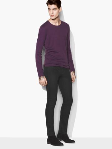 John Varvatos Artisan Crewneck Sweater Purple Size: Xs
